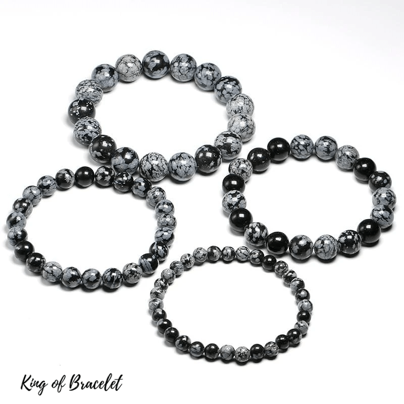 Bracelet en Obsidienne Neige Qualité AAA+ - King of Bracelet