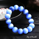 Bracelet en Oeil de Chat Bleu - King of Bracelet