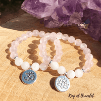 Bracelet en Quartz Rose et Pierre de Lune - King of Bracelet
