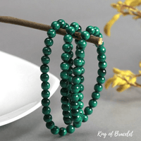 Bracelet Triple en Malachite - King of Bracelet