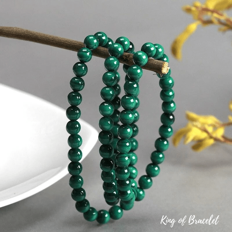 Bracelet Triple en Malachite
