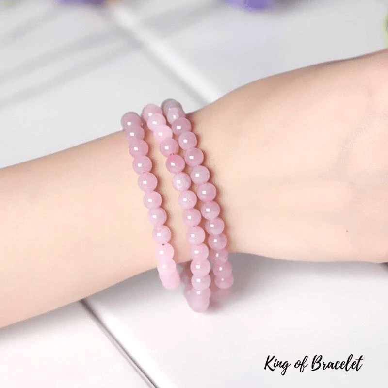 Bracelet Triple en Quartz Rose - King of Bracelet