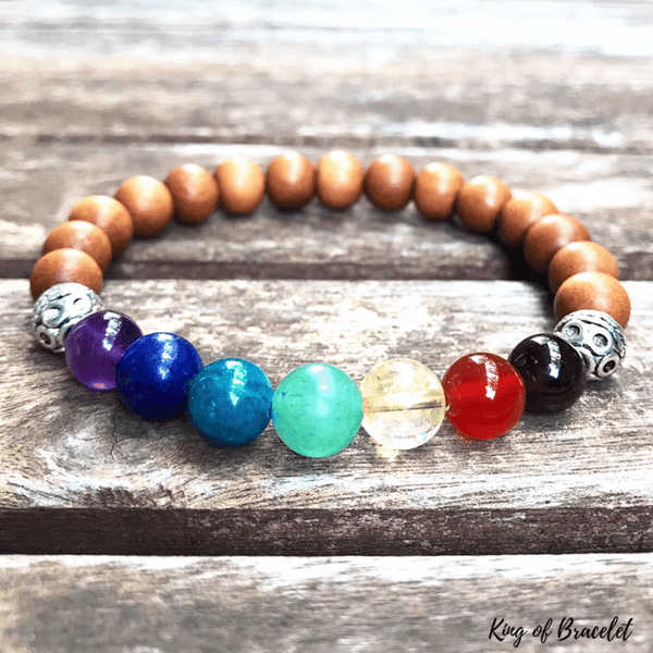 Bracelet 7 Chakras Bois de Santal - King of Bracelet
