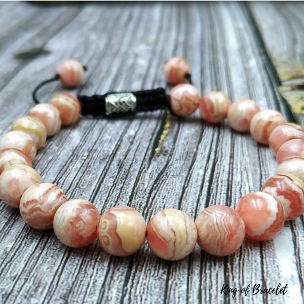 Bracelet Ajustable en Rhodochrosite Véritable - King of Bracelet