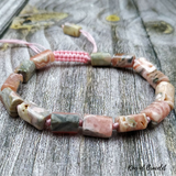 Bracelet Réglable en Rhodochrosite Naturelle - King of Bracelet