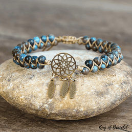 Bracelet Boho en Agate Crazy Lace Bleue - King of Bracelet