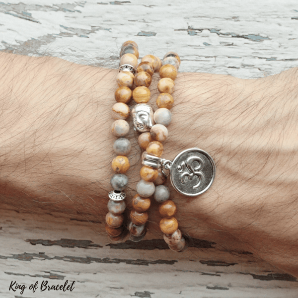Bracelet Bouddha en Agate Crazy Lace - King of Bracelet