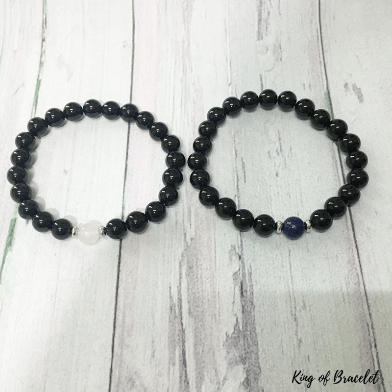 Bracelet Couple en Tourmaline Noire - King of Bracelet