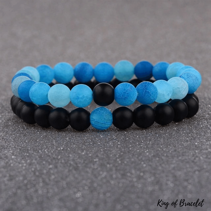 Bracelet Distance - Noir et Bleu - King of Bracelet