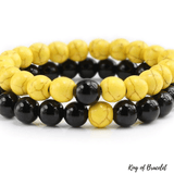 Bracelet Distance - Jaune et Noir - King of Bracelet