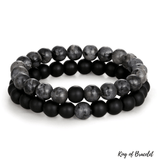 Bracelet Distance Couple - Gris et Noir - King of Bracelet