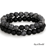 Bracelet Distance - Gris et Noir - King of Bracelet