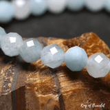 Bracelet Perle Facettée en Aigue Marine - King of Bracelet