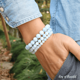 Bracelet Perles Facettées en Aigue Marine - King of Bracelet