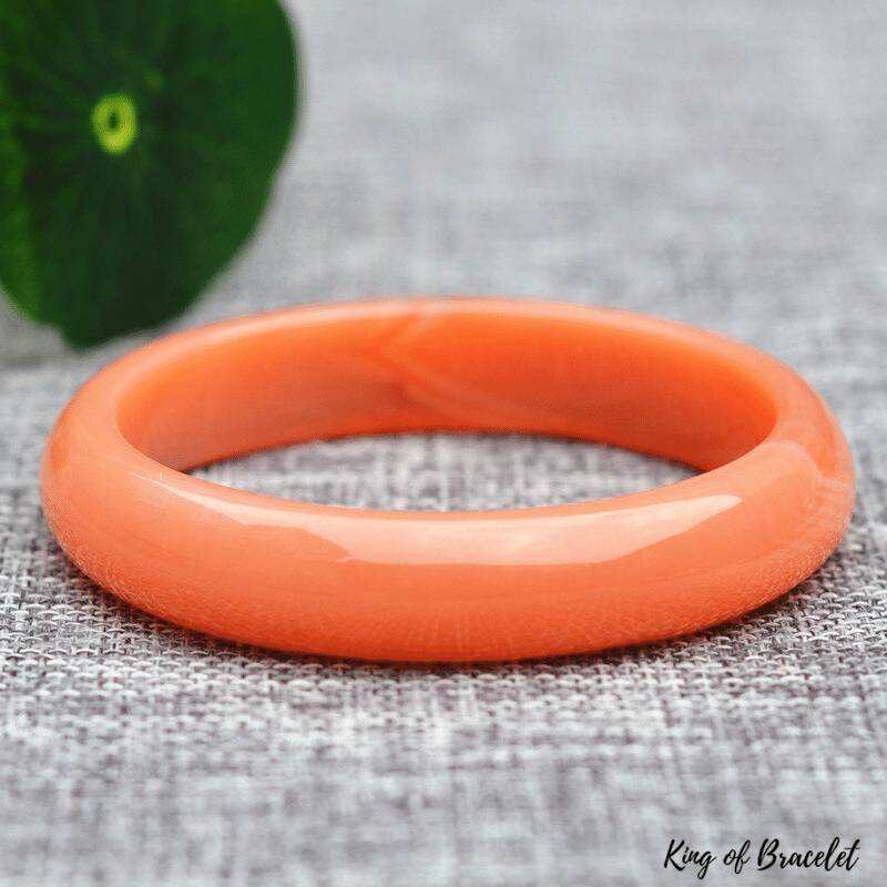 Bracelet Jonc Jade Orange - King of Bracelet