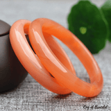 Bangle en Jade Orange - King of Bracelet