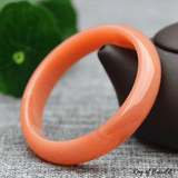 Bracelet Bangle en Jade Orange - King of Bracelet