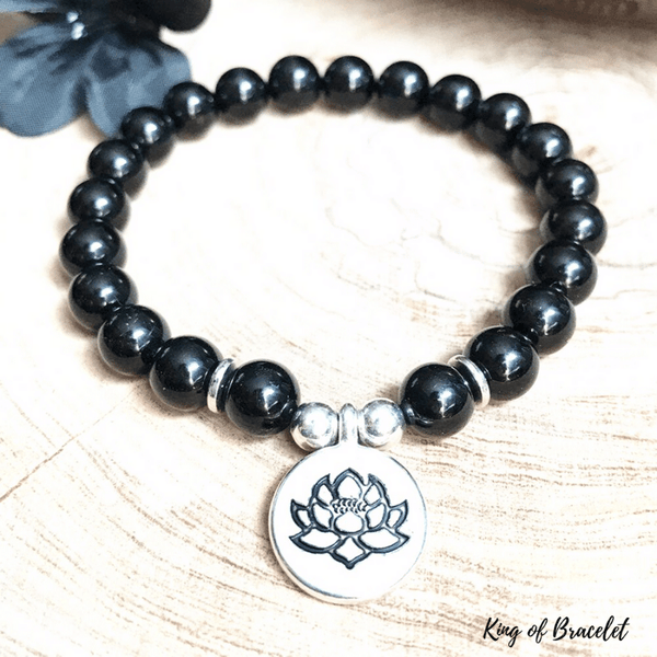 Bracelet Lotus en Tourmaline Noire - King of Bracelet
