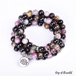 Bracelet Mala en Tourmaline Multicolore - King of Bracelet