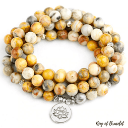 Bracelet Mala en Agate Crazy Lace - King of Bracelet