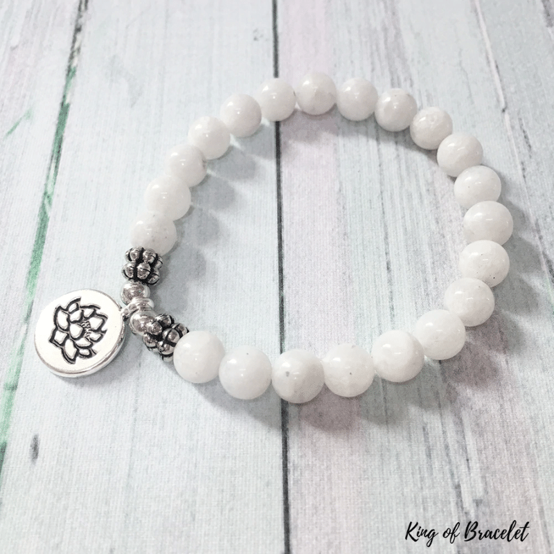 Bracelet Lotus en Pierre de Lune - King of Bracelet