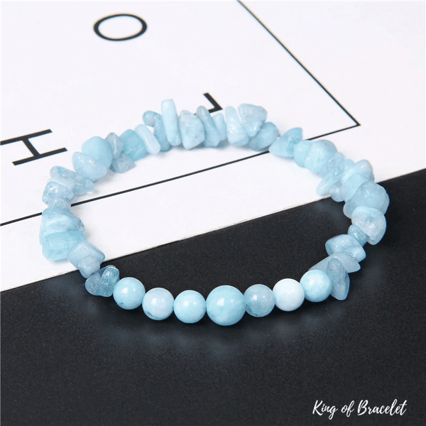 Bracelet Mix en Aigue Marine - King of Bracelet