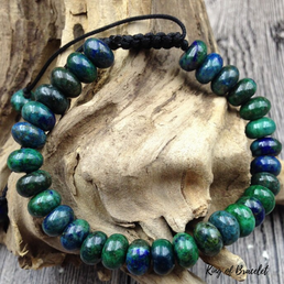 Bracelet Réglable en Chrysocolle Naturelle - King of Bracelet