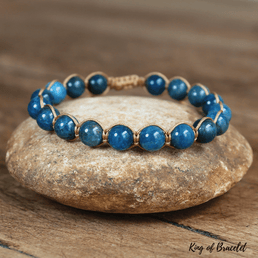 Bracelet Réglable en Apatite Bleue - King of Bracelet