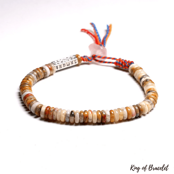 Bracelet Tibétain en Agate Crazy Lace - King of Bracelet