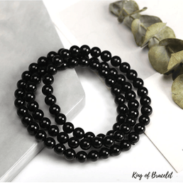 Bracelet Triple en Tourmaline Noire - King of Bracelet