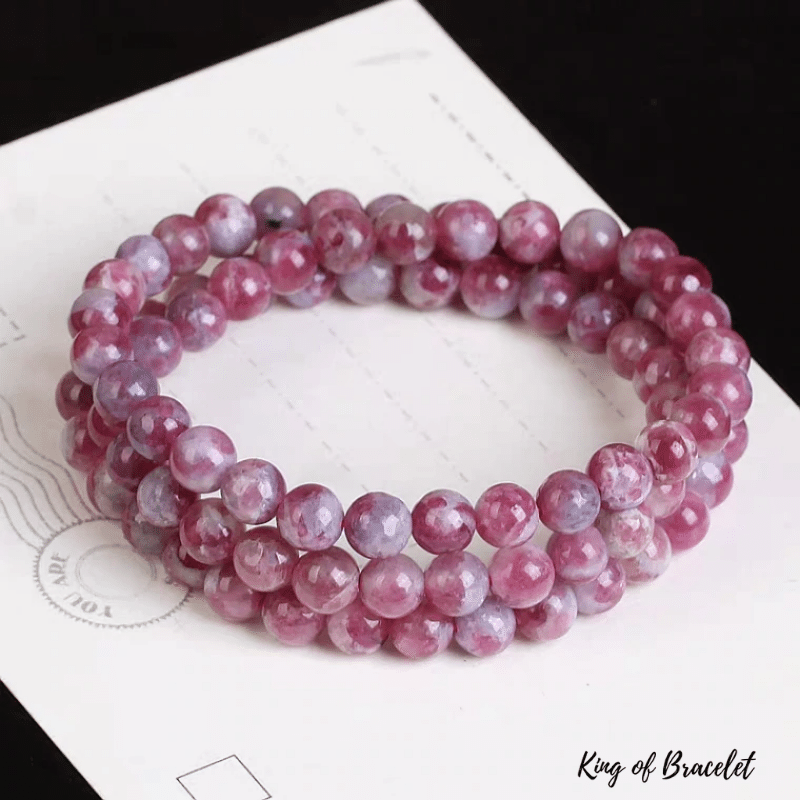 Bracelet Triple en Tourmaline Rose - King of Bracelet