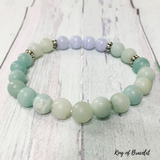 Bracelet en Amazonite et Calcédoine Bleue - King of Bracelet