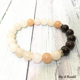 Bracelet Aventurine Orange et Grenat - King of Bracelet