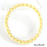Bracelet Perles Citrine Véritable - King of Bracelet