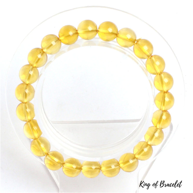Bracelet en Citrine Jaune Véritable - King of Bracelet