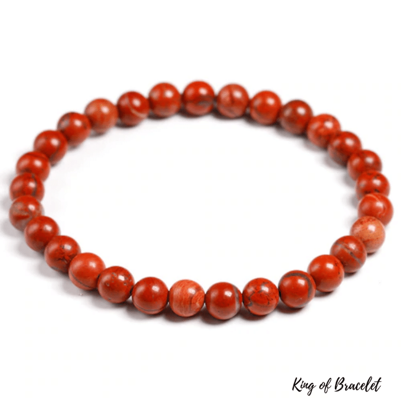 Bracelet en Jaspe Rouge | Perles 6MM | King of Bracelet