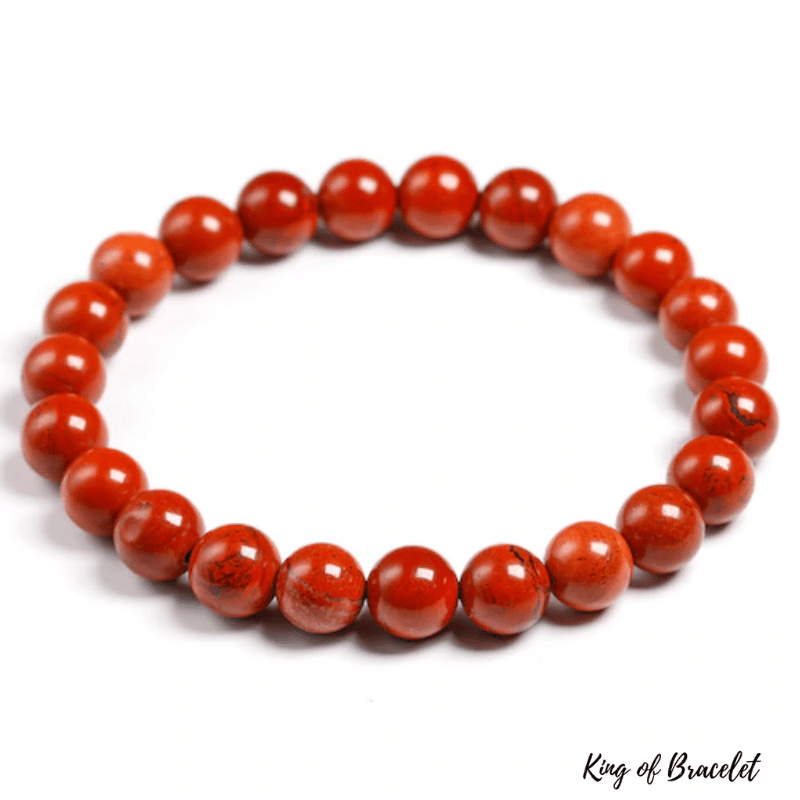 Bracelet en Jaspe Rouge | Perles 8MM | King of Bracelet