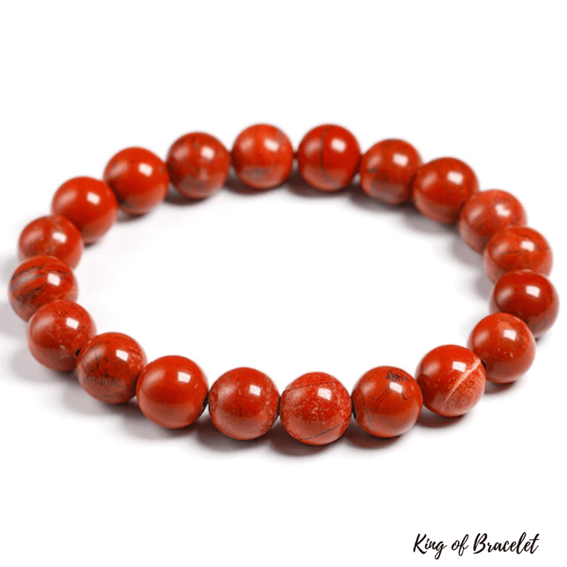 Bracelet en Jaspe Rouge | Perles 10MM | King of Bracelet