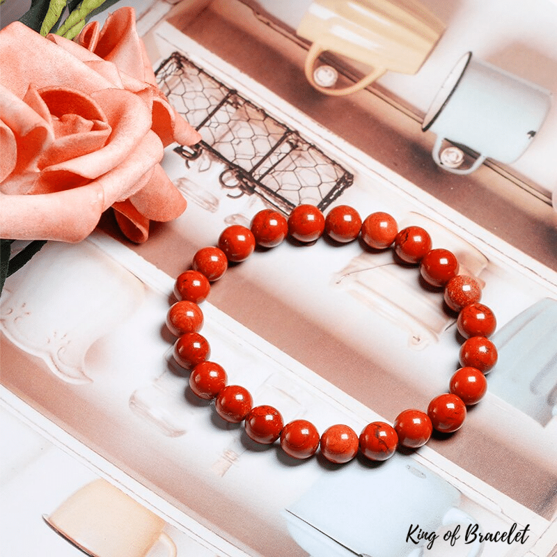 Bracelet en Jaspe Rouge | King of Bracelet