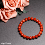 Bracelet en Jaspe Rouge | Qualité AAA+| King of Bracelet