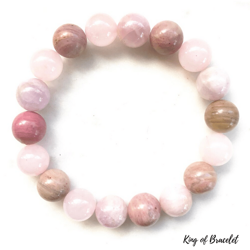 Bracelet en Kunzite, Rhodonite et Quartz Rose - King of Bracelet