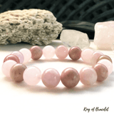 Bracelet Kunzite, Rhodonite et Quartz Rose - King of Bracelet