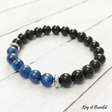 Bracelet en Cyanite et Onyx Noir - King of Bracelet