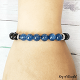 Bracelet Kyanite et Onyx Noir - King of Bracelet