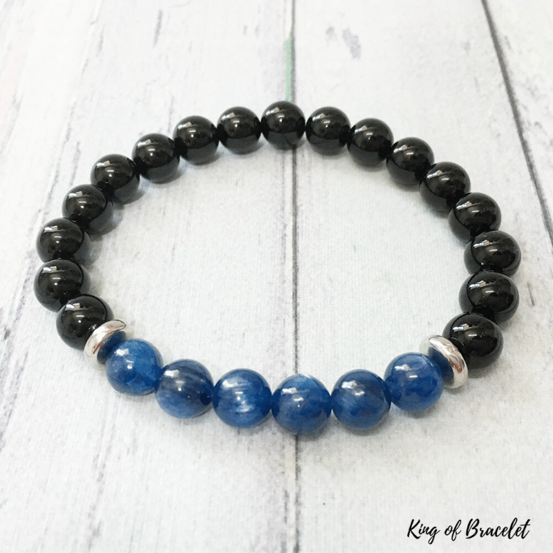Bracelet en Kyanite et Onyx Noir - King of Bracelet