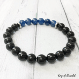 Bracelet en Kyanite Bleue et Onyx Noir - King of Bracelet