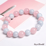 Bracelet en Quartz Rose et Aigue Marine - King of Bracelet
