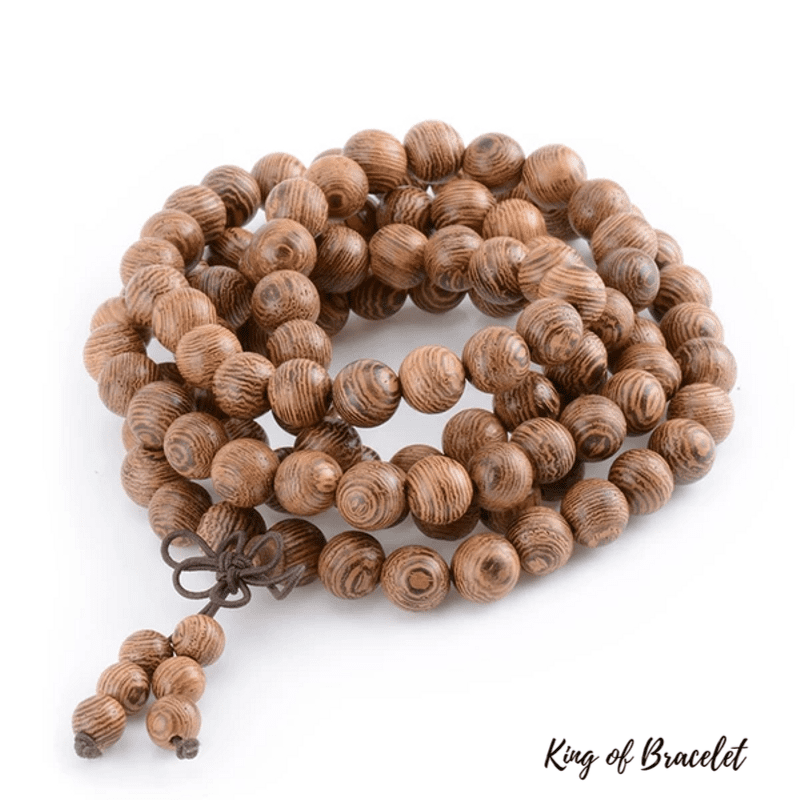 Bracelet Mala Bouddhiste Tibétain en Bois - King of Bracelet