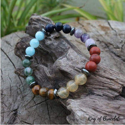 Bracelet 7 Chakras en Pierres Naturelles - King of Bracelet