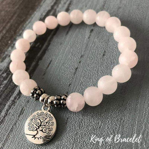 Bracelet Arbre de Vie en Quartz Rose - King of Bracelet